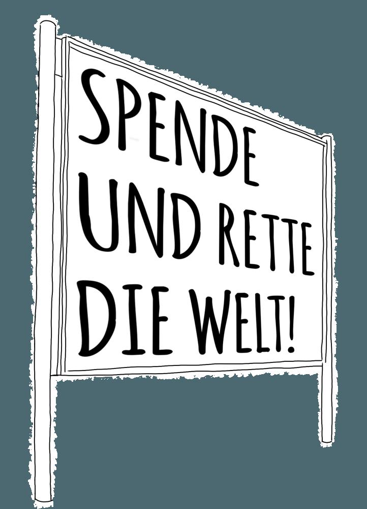 Beispiel Spendenplakat /Entwicklungszusammenarbeit