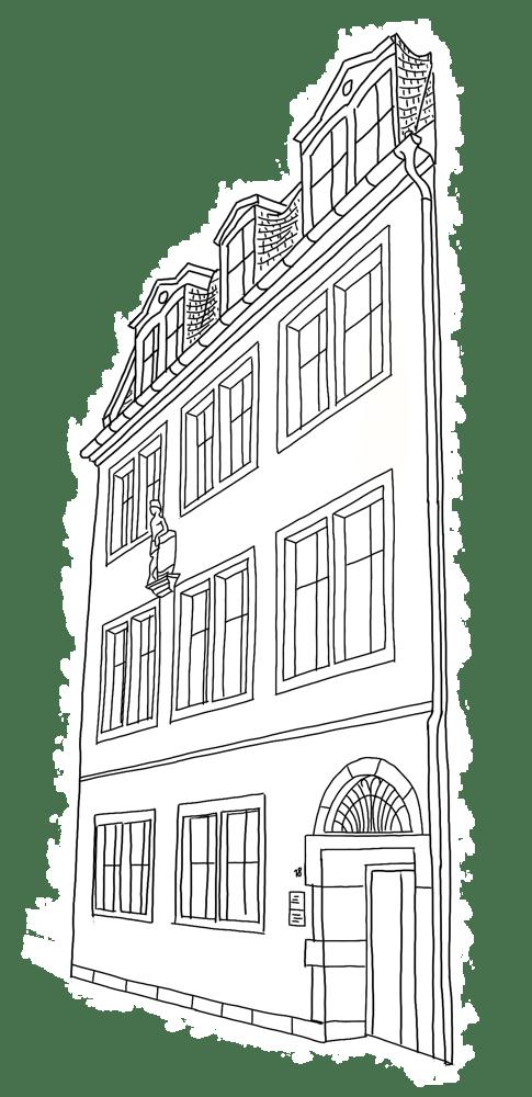 Station des Stadtrundgang - Bonngasse 18