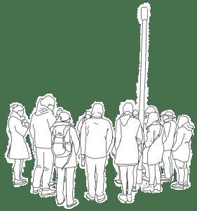 Bild der Gruppe bei einem Stadtrundgang